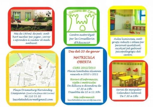 MATRICULA OBERTA CURS 2012/2013
